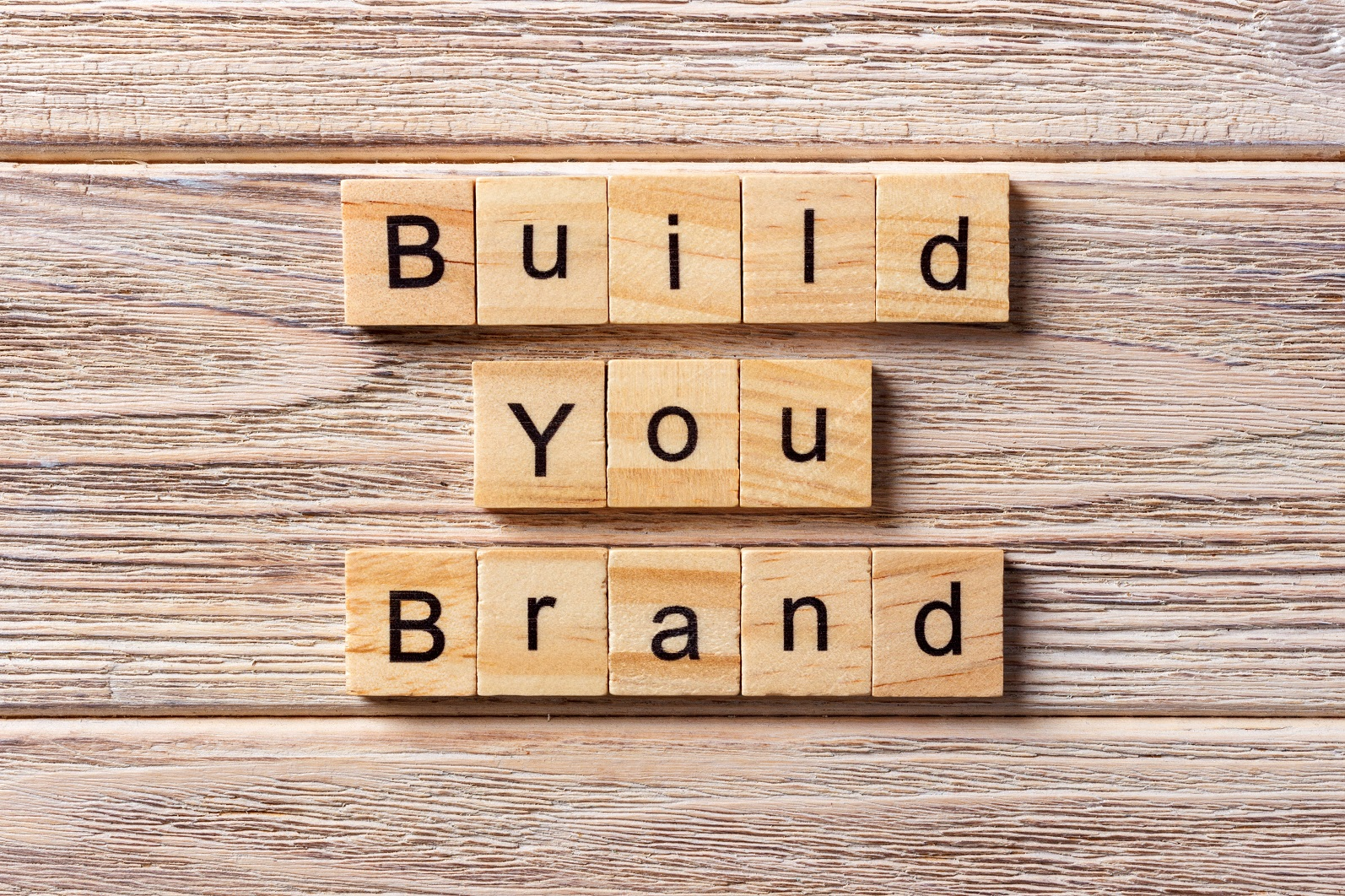 build your brand on wooden blocks