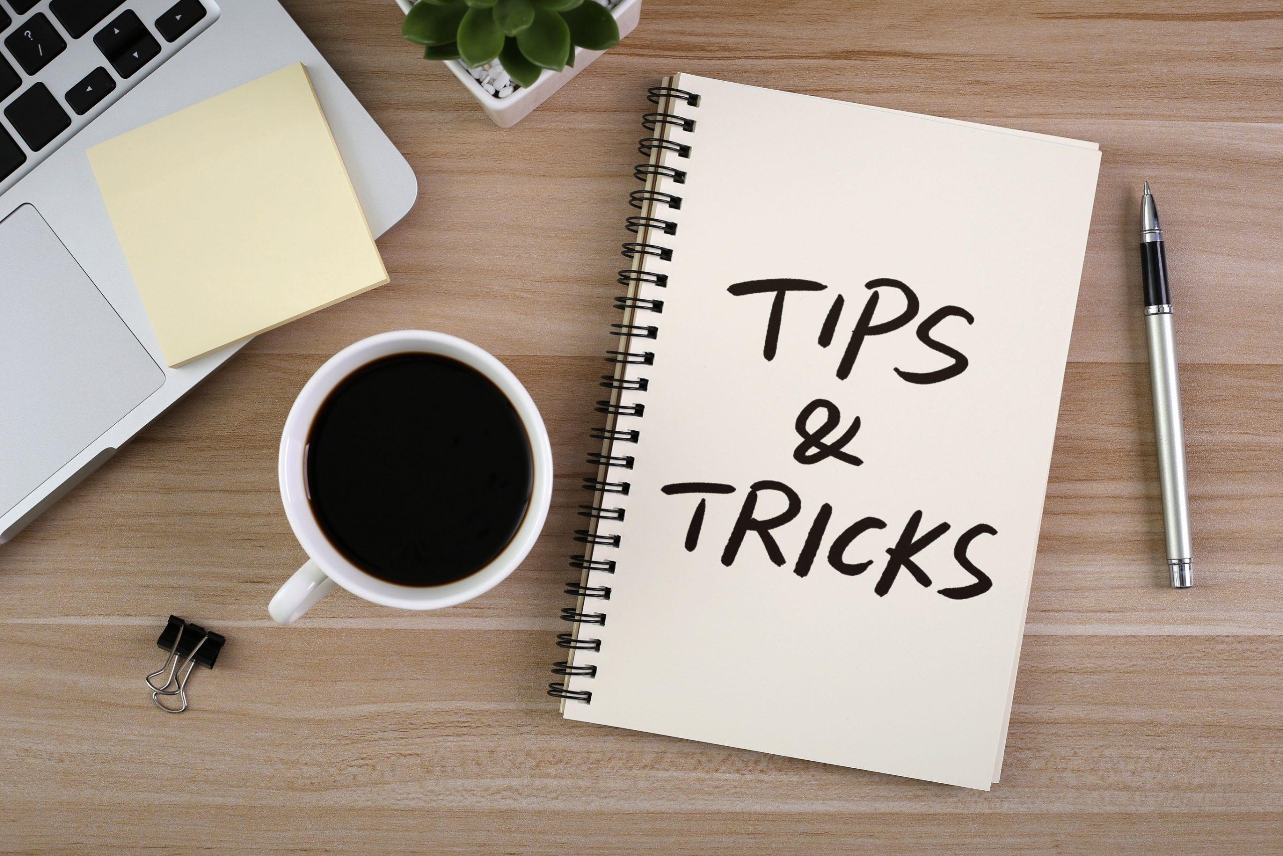tips & tricks notepad