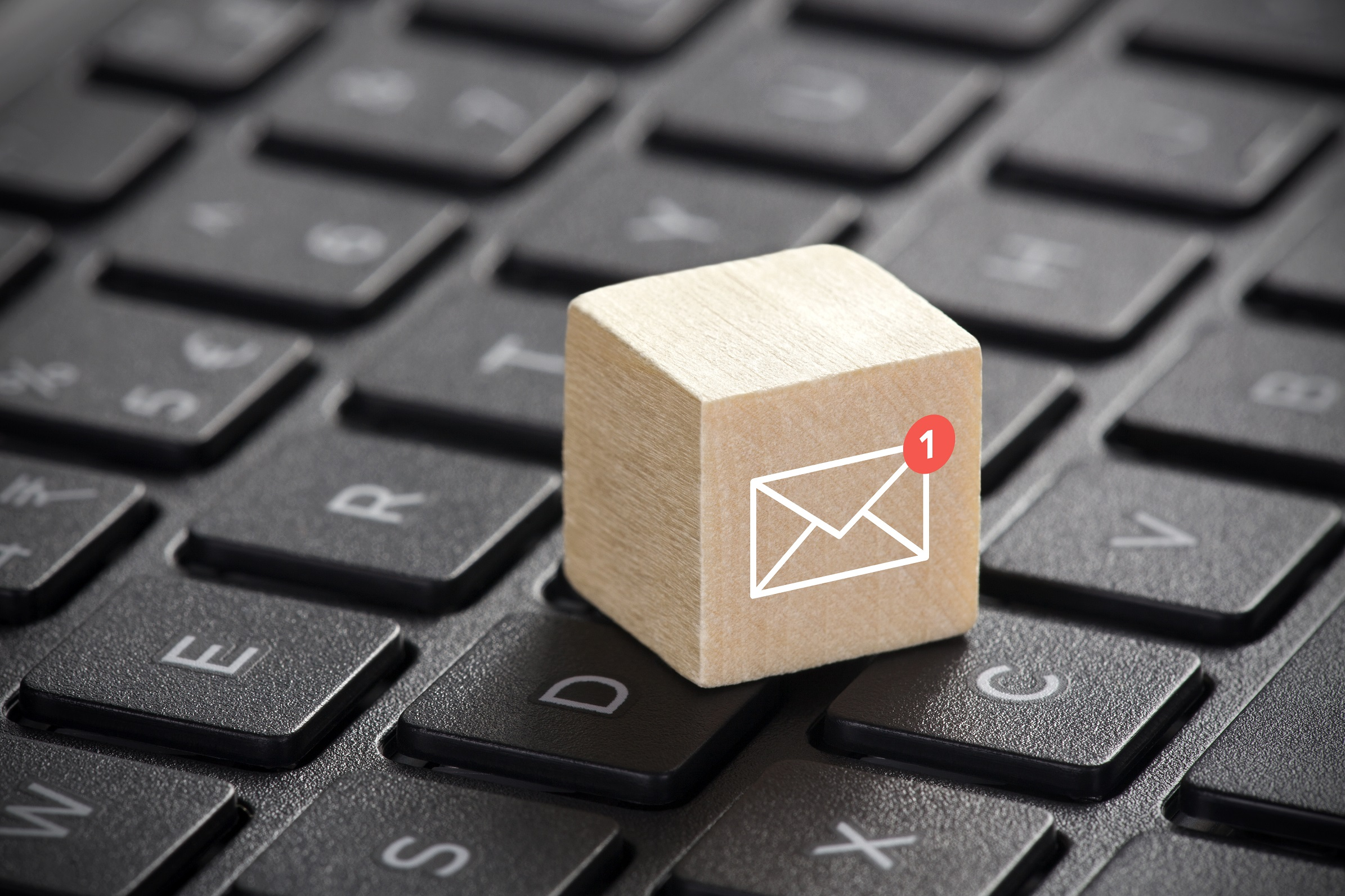 wooden block email