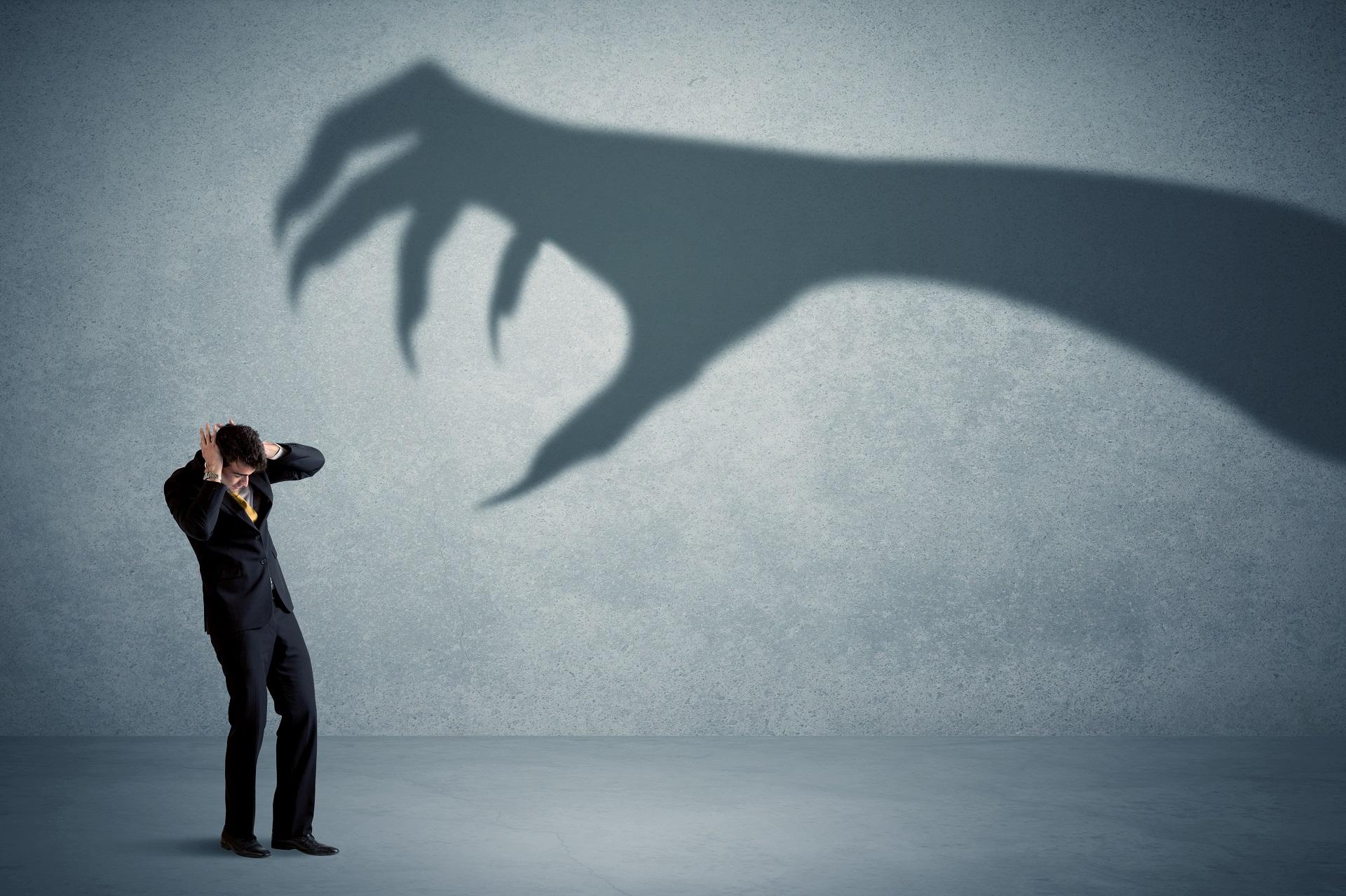 symbollic representation of scared entrepeneur