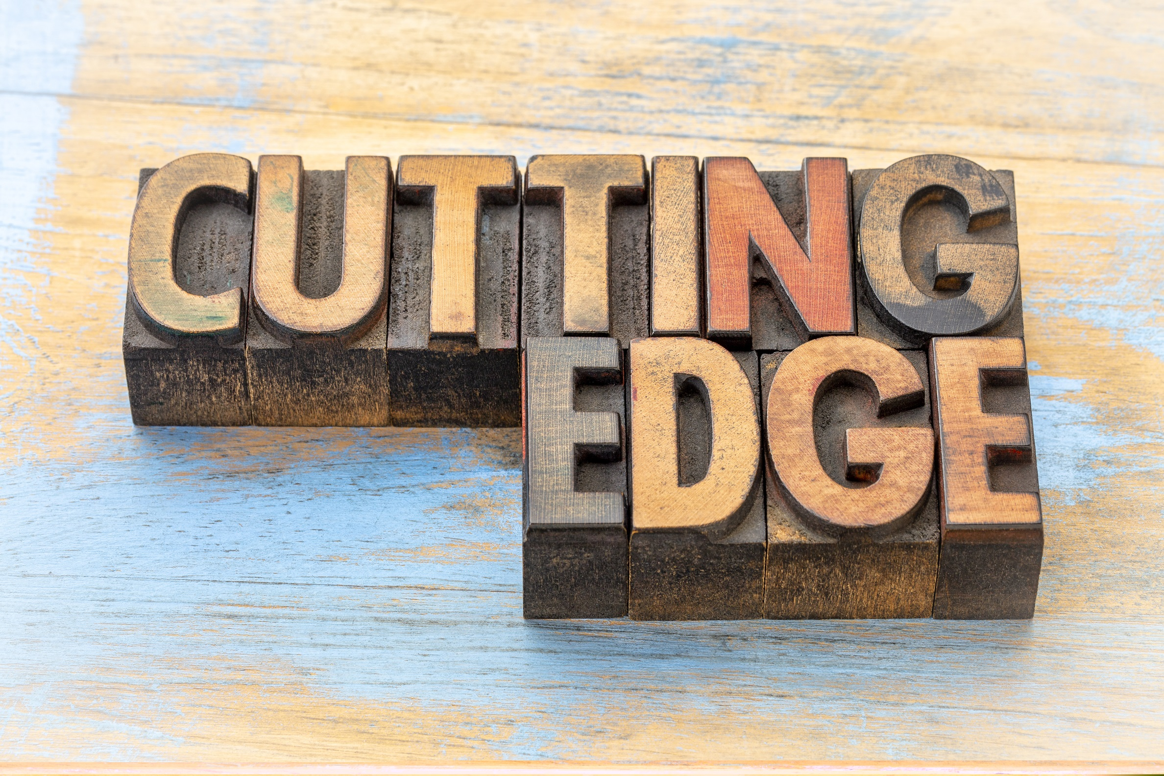 blocks spelling out cutting edge, spelling out one of the most common problems with affiliate marketing